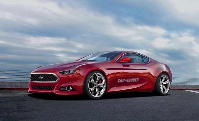 2015 mustang render by car and driver - Dodge Barracuda 2015 Car And Driver