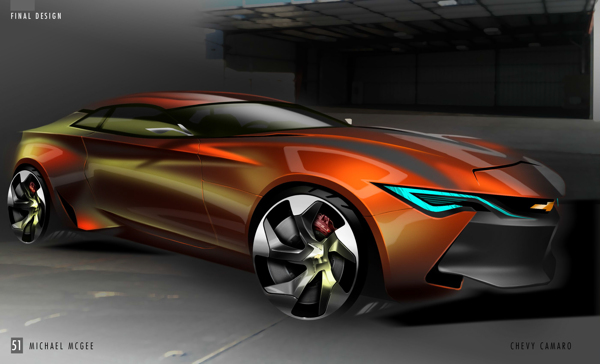 6th geneneration camaro concept for General motors internship summer 2018