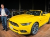 Bill Ford with 2015 Mustang on 112th floor of Burj Khalifa tower