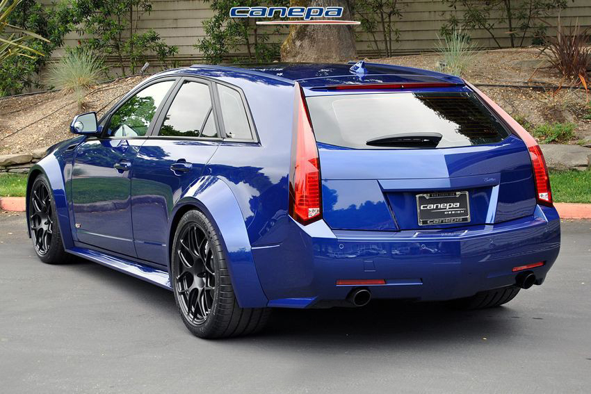 Wide Body Cadillac Cts V Wagon By Canepa Amcarguide Com American Muscle Car Guide
