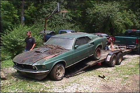 1969 Mustang Mach I Rescued Brad