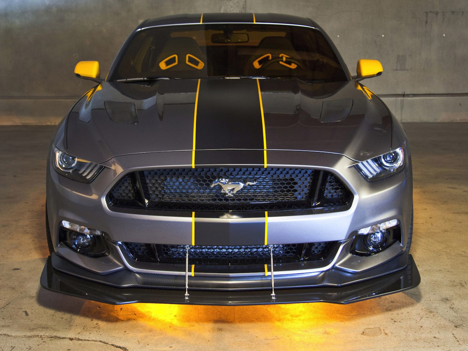 Ford revealed their first ever custom 2015 Mustang at  EAA Air