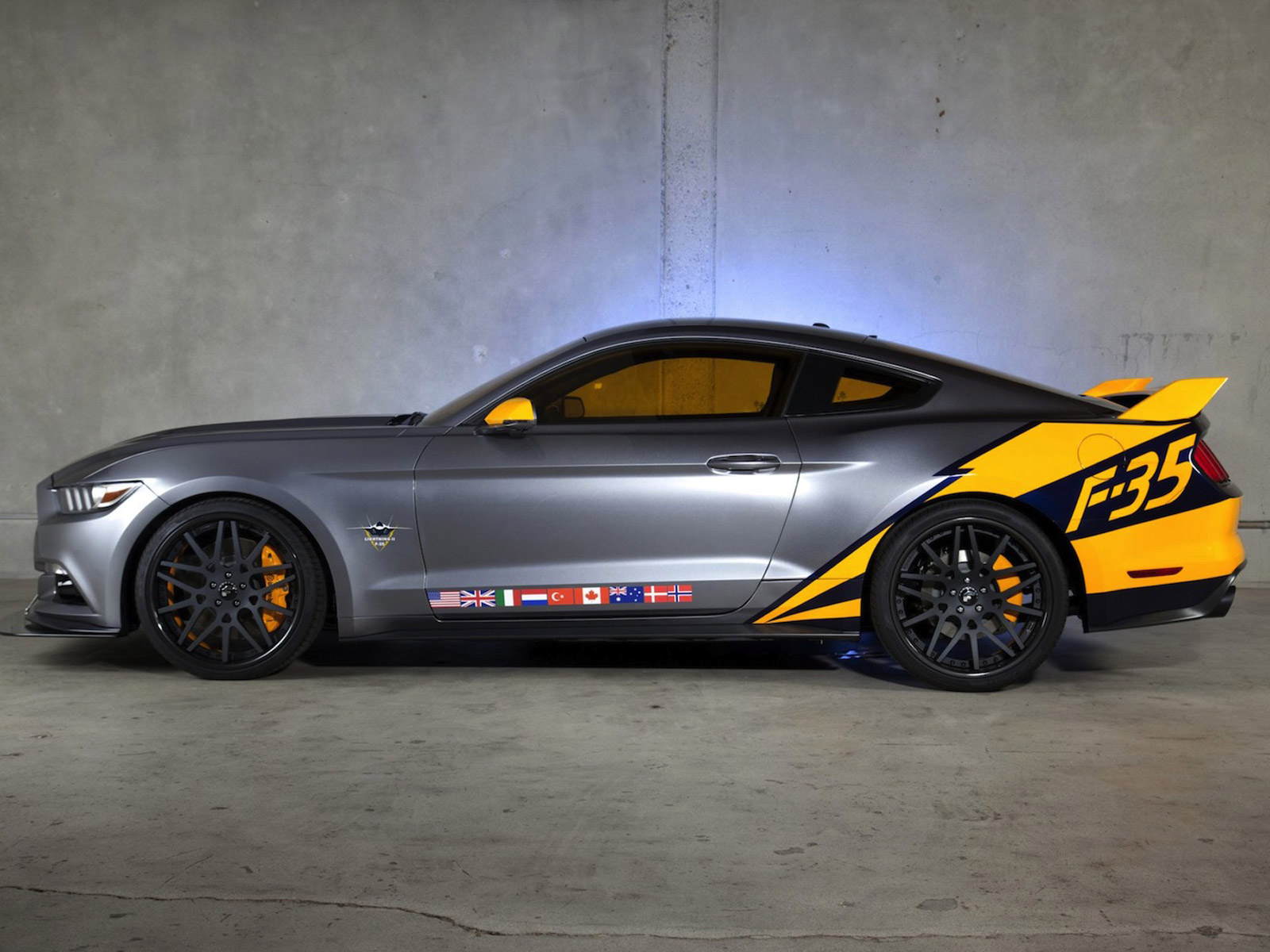 Ford revealed their first ever custom 2015 Mustang at 2014 EAA Air