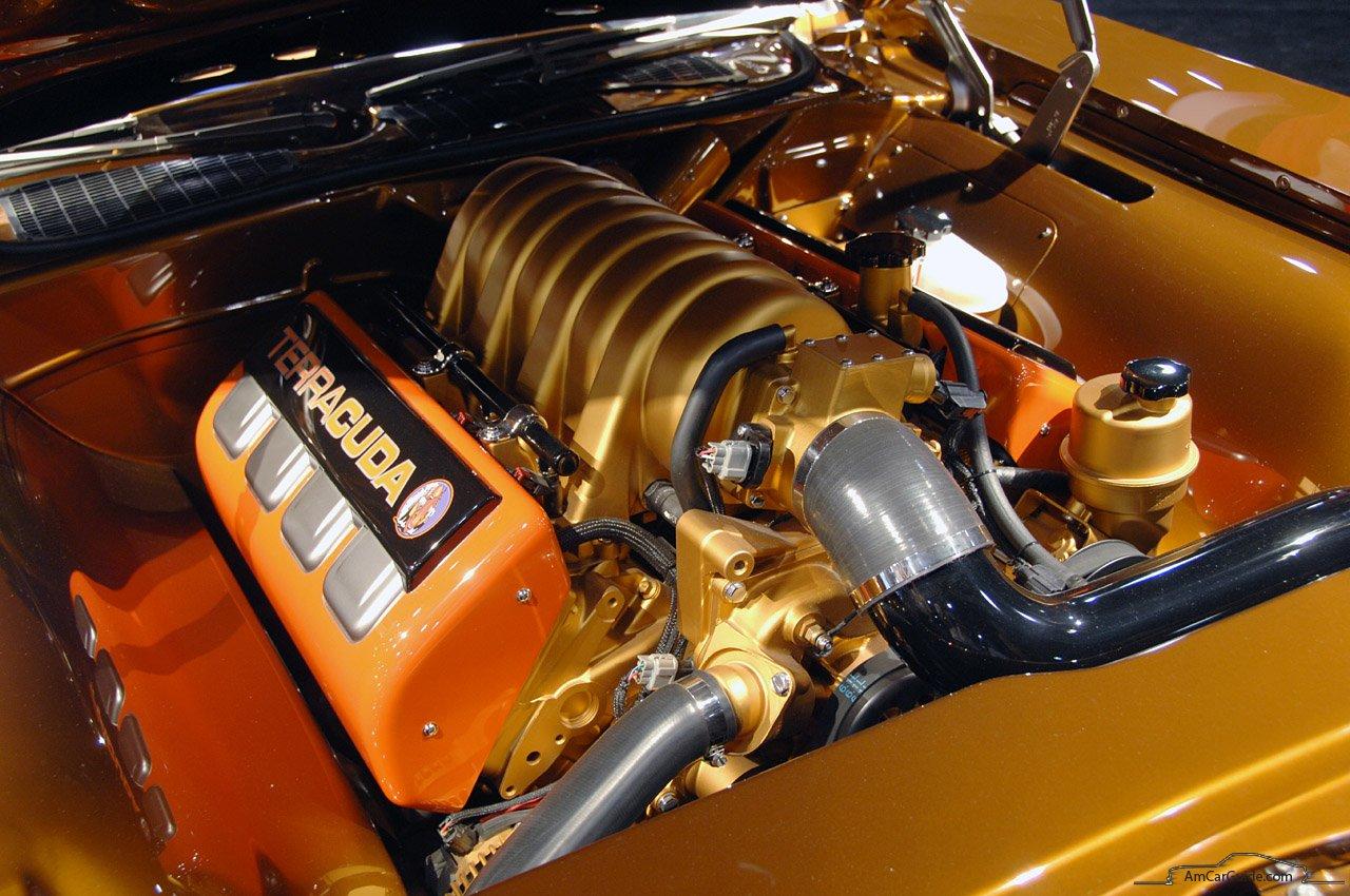 Chip Foose Custom Plymouth Barracuda Terracuda Engine