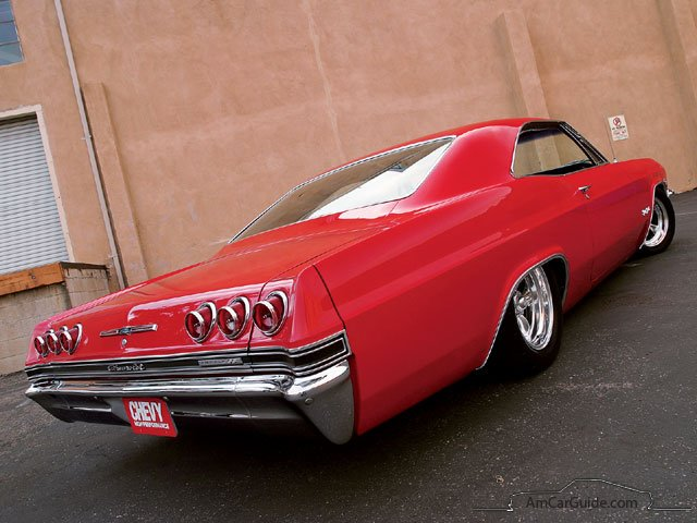 Chevrolet Impala Ss Coupe Red Rear