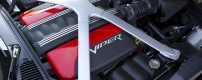 Under the hood of the 2015 Dodge Viper SRT models is the all-alu