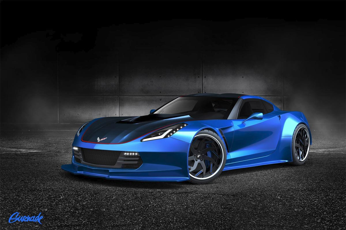 Gurnade rendered widebody C7 for the 2014 SEMA ...