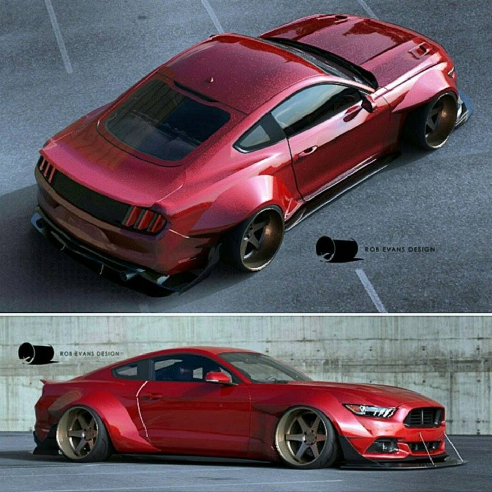 Rendered: Extremely Wide 2015 Mustang