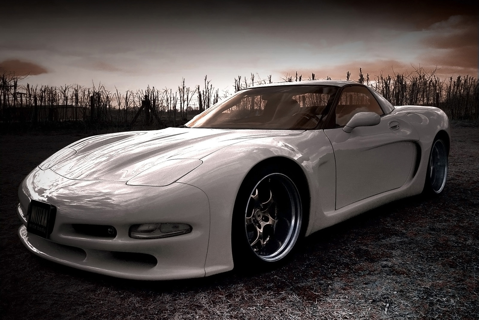 Wide body kit for Corvette C5