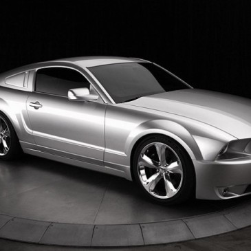 Iacocca Silver 45th anniversary Mustang