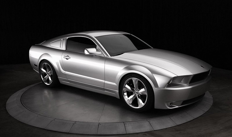2009-Lacocca-Silver-45th-Anniversary-Edition-Ford-Mustang-Front-Angle-View-800x474