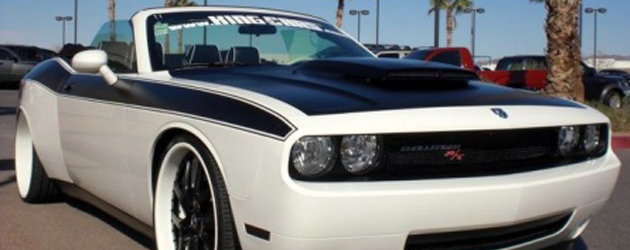 Custom wide body Dodge Challenger cabrio