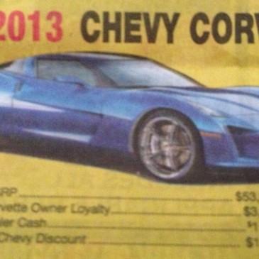 Spied: C7 Corvette prototype