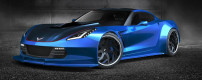 Gurnade rendered widebody C7 for the 2014 SEMA