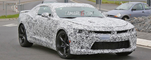 2016 Camaro spied with less camo