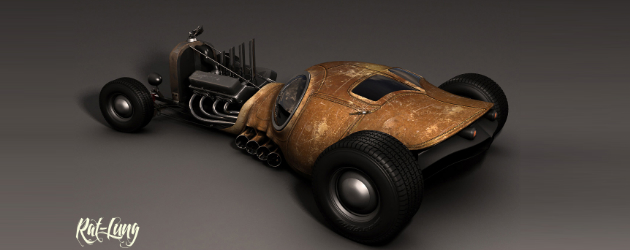 Rat-Lung Hot Rod Concept by Idries Noah