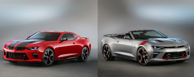 2016 Chevrolet Camaro SS Black and Red Accent Packages